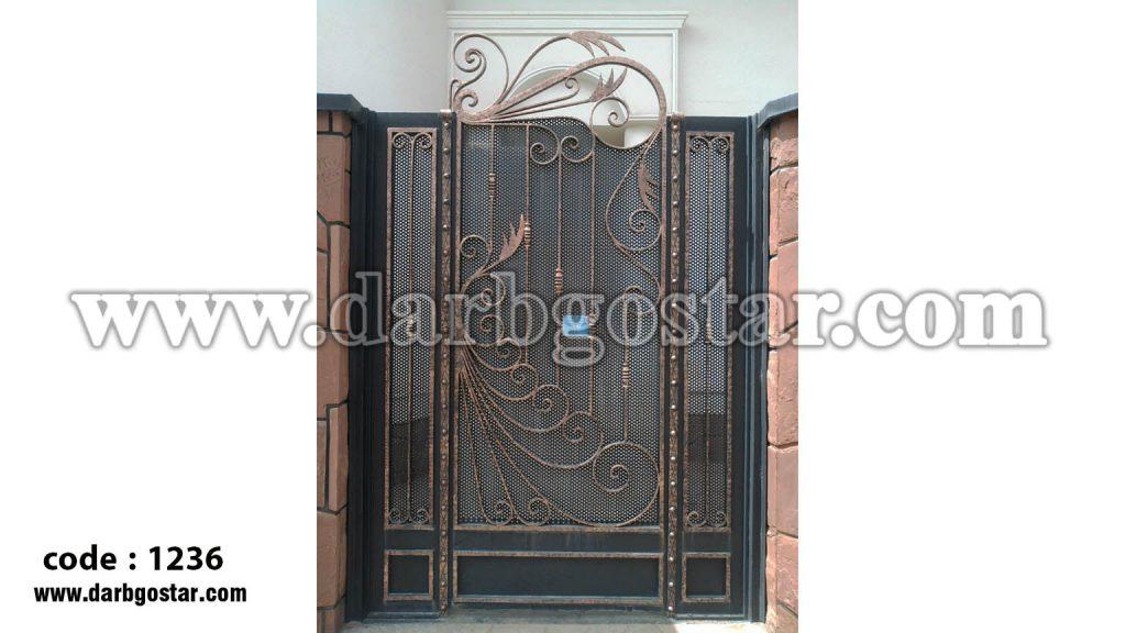 درب ورودی ساختمان درب فرفورژه کد درب 1236