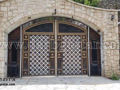 1351-A درب پارکینگ درب ورودی