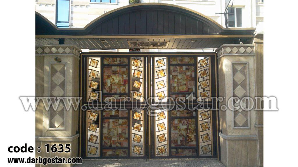درب شیک درب ساختمان درب کد 1635