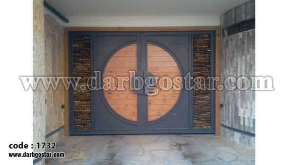 درب تلفیقی درب پارکینگ کد درب 1732
