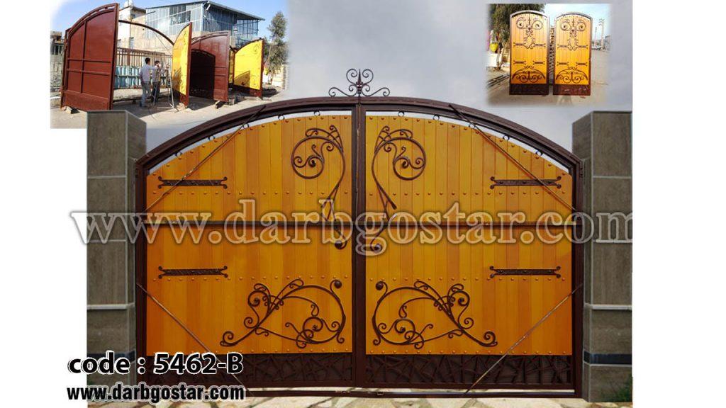 5462-B درب فلزی طرح چوب