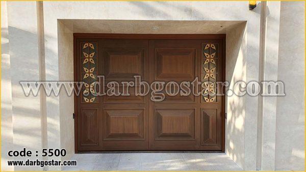 قیمت درب فلزی طرح چوب کد درب 5500
