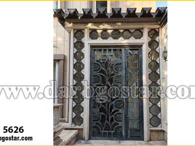 درب ورودی ساختمان درب آنتیک کد درب 5626