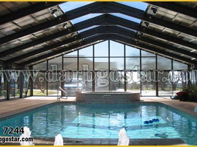 پوشش سقف استخر مدل 7244