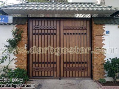 درب طرح سنتی و قدیمی کد درب 1075