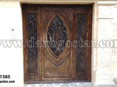 درب ساختمان طرح چوب کد درب 1585