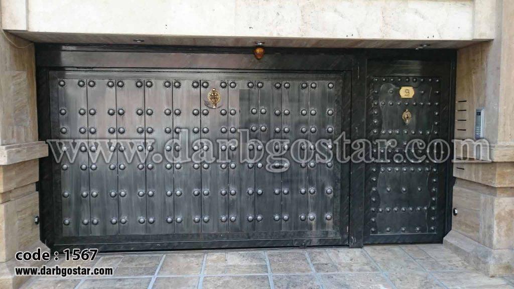 درب های ساختمانی درب ریلی کد درب 1567