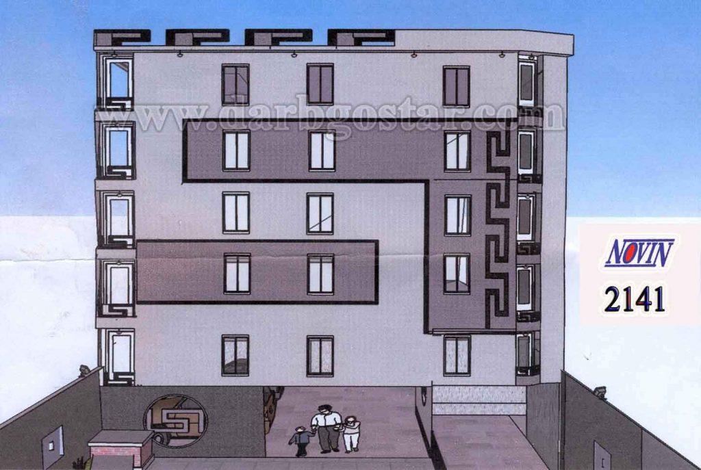 طراحی نمای ساختمان و اجرای فلاشینگ