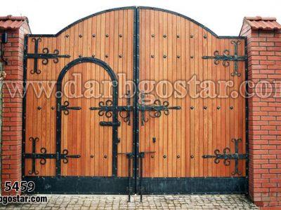 درب فلزی طرح چوب کد درب 5459