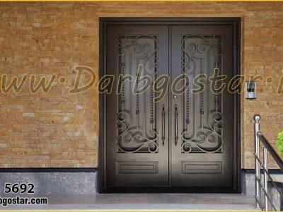 درب ورودی منزل درب فرفورژه کد درب 5692