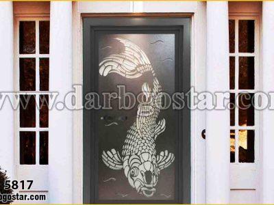 درب ورودی ساختمان لیزری- درب کد 5817
