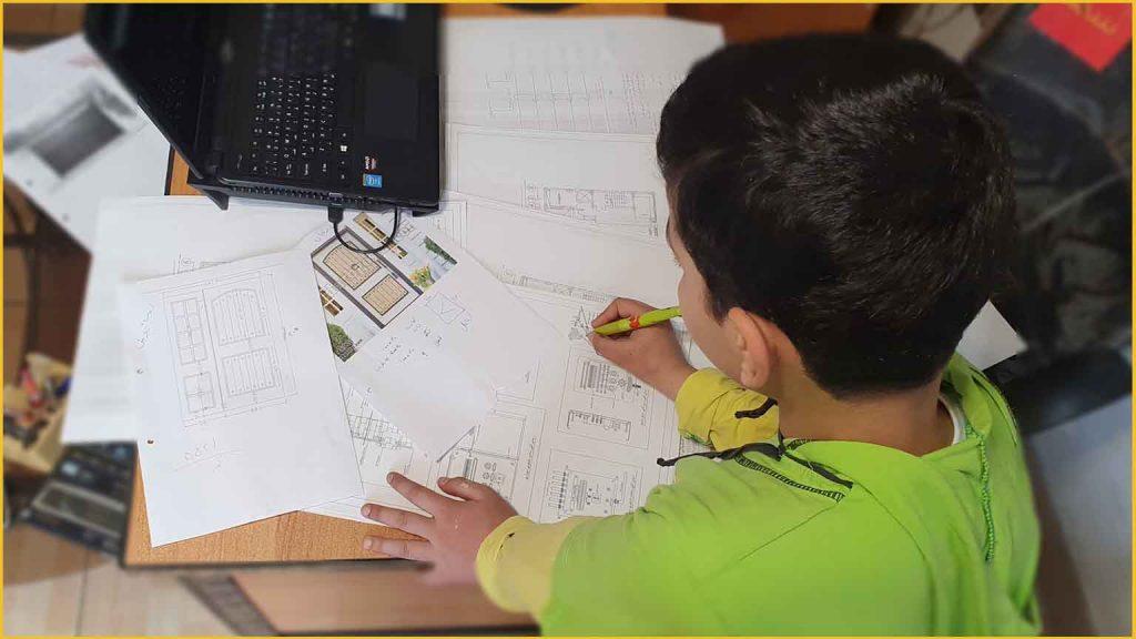 طراحی درب فلزی حیاط