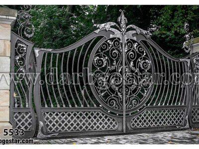 درب فرفورژه درب باغ درب شیک کد درب 5533