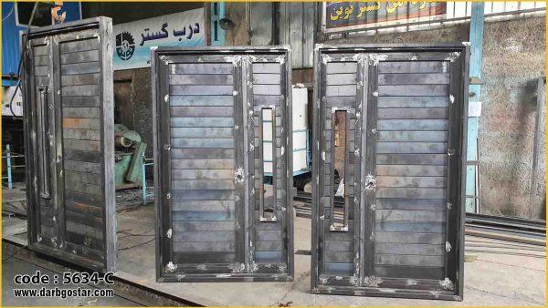 5634-C درب فلزی ورودی ساختمان