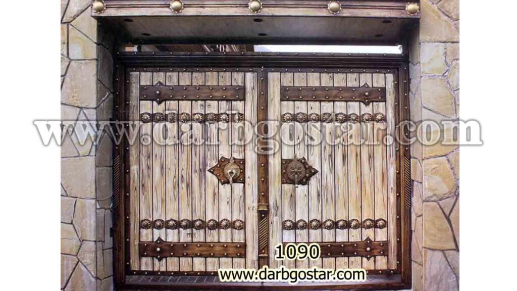 درب طرح سنتی و قدیمی کد درب 1090